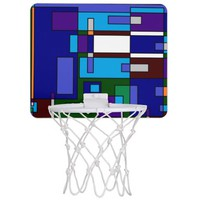 Retro Grid Abstract Mini Basketball Backboard
