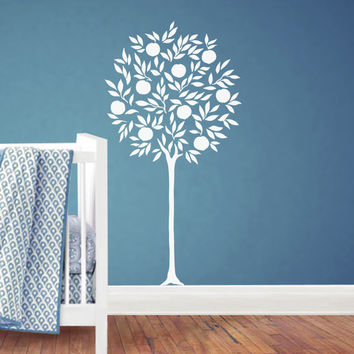 Tree wall decal,Tree Decal, tree decals, nursery tree decal, tree wall decals, White tree decals, Vinyl Wall Decal