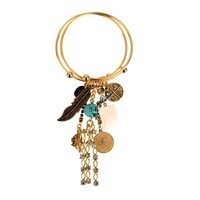 Bee Charming Jewelry Double Bangle with Charms