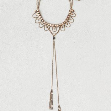 AEO Tiered Choker & Lariat Necklace, Gold