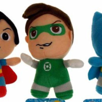 Lot 3 DC Comics Originals Little Mates Superman Batman Green Lantern Plush Set