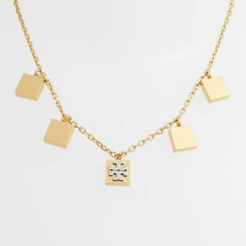 Tory Burch Block-T Logo Charm Necklace | Nordstrom