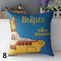 Beatles Yellow Submarine Pillow Cover Home Decor Throw Pillow