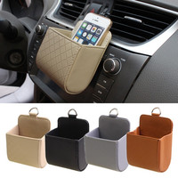 2017 Top Selling PU Leather Cars Vehicle Trash Mobile Phone Storage Holder Pouch Bag Organizer 4 Colors