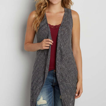 vest with pointelle stitch back | maurices