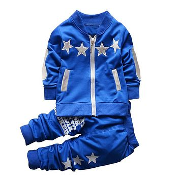 Boys Clothing Sets Spring Autumn Children Boys Sport Suit Kids Stars Christmas Clothes Tracksuit Baby Boys Clothing