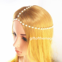 summer bead Head chain,headdress chain,hair chain, head piece, headband,girl women lady chain,friend gift,ead accessory,1TS-0021