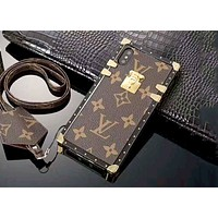 LV x Supreme Tide brand classic co-branded iPhoneX mobile phone case cover