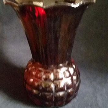 Anchor Hocking Royal Ruby Red Pineapple Vase