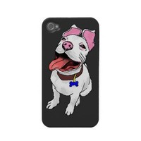 Pit Bull Puppy iPhone 4/4S case from Zazzle.com