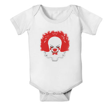 Extra Scary Clown Watercolor Baby Romper Bodysuit