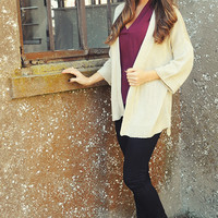 See You When I See You Cardigan: Beige