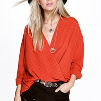 Scarlett Check Wrap Shirt