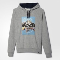 adidas Heavy French Terry Hoodie - Grey | adidas US