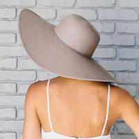 Toasted Sun Straw Floppy Hat