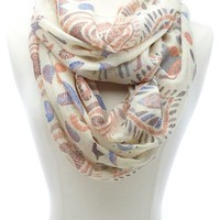 Abstract Safari Print Infinity Scarf