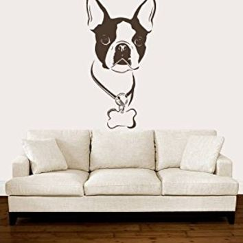 Wall Decal Vinyl Sticker Decals Art Decor Design English Bulldog Dogs Puppy Pets Animals Friend Nature Dorm Bedroom House Style(r708)