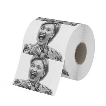 Hillary Clinton & Obama Toilet Paper, Novelty Paper Tissue Roll - Funny Gag Gift