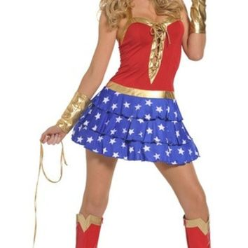 PEAPIX3 Role-playing games uniforms superman costume wonder woman dress uniform temptation (Size: M) = 1945846084