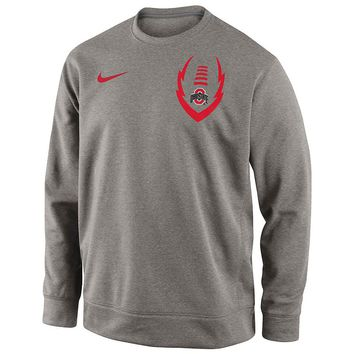 Nike Ohio State Buckeyes Football Icon Club Crewneck Sweatshirt