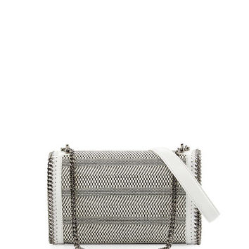 Stella McCartney Woven Chain Crossbody Bag, White