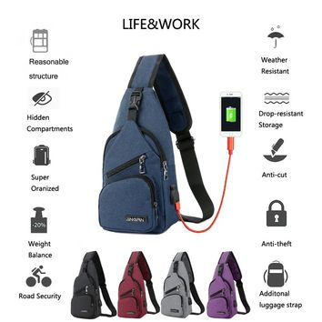 10L Backpack Chest Cross Body One Strap Shoulder Day Pack for Men Women Lightweight Triangle Backpack for Hiking Camping Bicycle