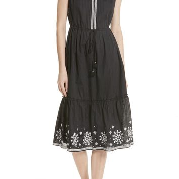 kate spade new york mosaic embroidered midi dress | Nordstrom