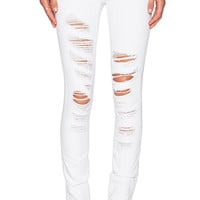 Dakota Collective by BB Dakota Khloe Skinny Jeans in White Shred