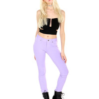 LAVENDER DENIM LEGGINGS