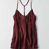 AEO Ruched Swing Tank , Burgundy