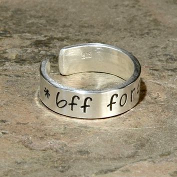 Best Friends Forever Sterling Silver Ring
