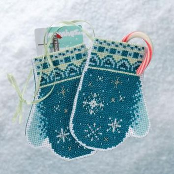 Mill Hill Snowflake Mittens Trilogy Ornament Counted Cross Stitch Kit