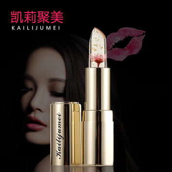 Brand New Kailijumei Lip Stick Makeup Magic Color Temperature Change Moisturizer Bright Surplus Lipstick Lips Care 3 Colors
