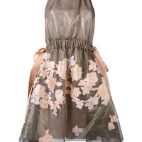 Fendi Halterneck Floral Dress - Farfetch