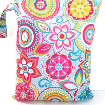 Wet Bag, waterproof washable wetbag, you pick size, wet bags for cloth diapers, swimsuits