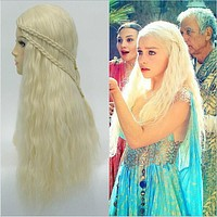 Game of Thrones Season 7 Daenerys Targaryen Wig Halloween Costume