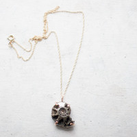 Pyritized Ammonite Necklace 14k Gold Fill | Custom
