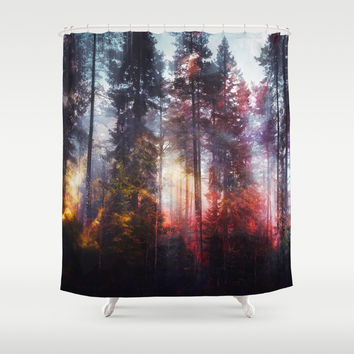 Warm fuzzy feelings Shower Curtain by happymelvin