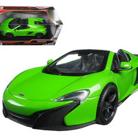 McLaren 650S Spider Green 1-24 Diecast Model Car by Motormax