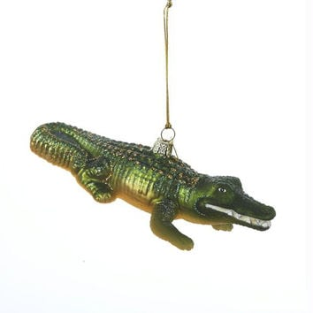 8 Christmas Ornaments - Alligator