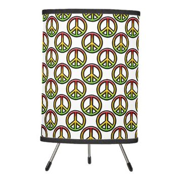 Rasta Peace Pattern Tripod Lamp