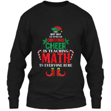 Christmas Cheer Is Teaching Math To Everyone Here Elf  LS Ultra Cotton Tshirt