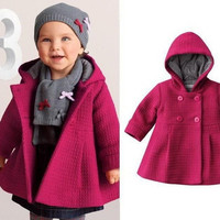Baby Coat Toddlers Autumn and Winter Cotton Lining Jacquard Coat Outwear