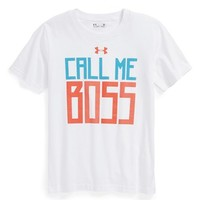 Under Armour 'Call Me Boss' Graphic T-Shirt (Baby Boys)