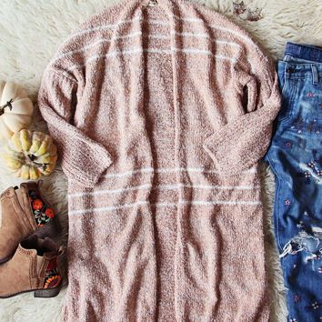 Sutton Cardigan Sweater in Blush