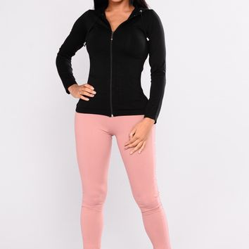 Peek This Active Leggings - Mauve