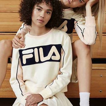 FILA + UO Cropped Hoodie Sweatshirt | New Arrivals | Urban