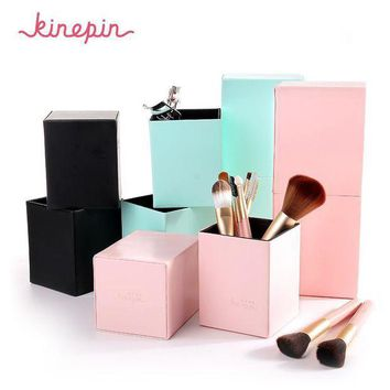 ICIKG2 KINEPIN Makeup Brushes Holder Magnetic Make Up Brush Pen Holder Cosmetic Tool Organizer Empty Portable PU Leather Container