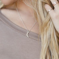 Crescent Moon {Silver}