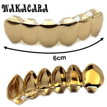 Body jewelry HIPHOP Dental Grillz teeth Grills Rhinestone Gold Silver Single AK47 Shape Caps Steampunk Men Femme jewelry